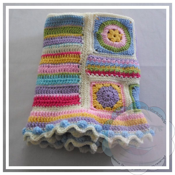 Scrapalicious Blanket Part Four - A Free Crochet Along | Creative Crochet Workshop #ccwscrapaliciousbag #crochetalong #scrapsofyarn