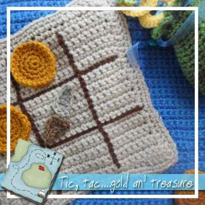 Crochet Pirate Playbook Tic Tac Toe|Creative Crochet Workshop