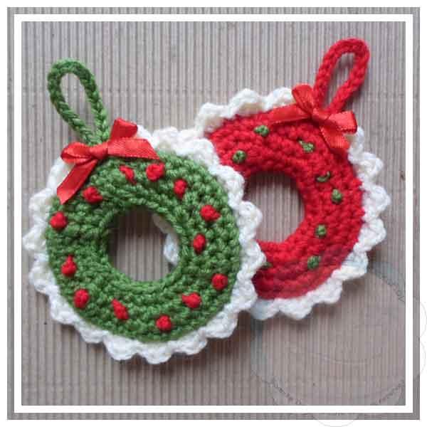 Christmas Wreath Tree Ornament Creative Crochet Workshop