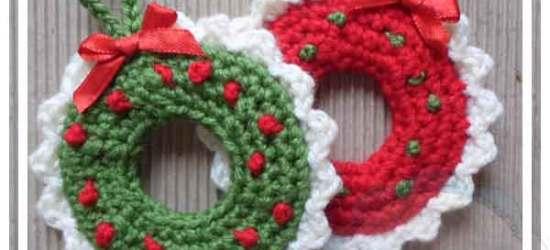 CHRISTMAS TREE WREATH ORNAMENTS CREATIVE CROCHET WORKSHOP