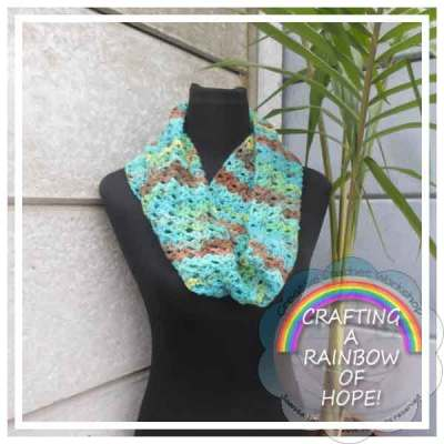 LACY STITCH INFINITY SCARF CRAFTING A RAINBOW OF HOPE CREATIVE CROCHET WORKSHOP