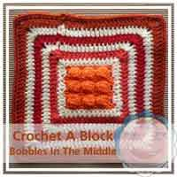 Bobble In The Middle granny/afghan square