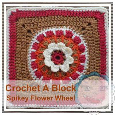 Crochet A Block Spikey Flower Wheel|Creative Crochet Workshop
