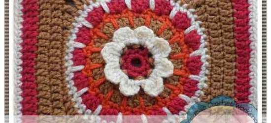 Crochet A Block Spikey Flower Wheel|Creative Crochet Workshop