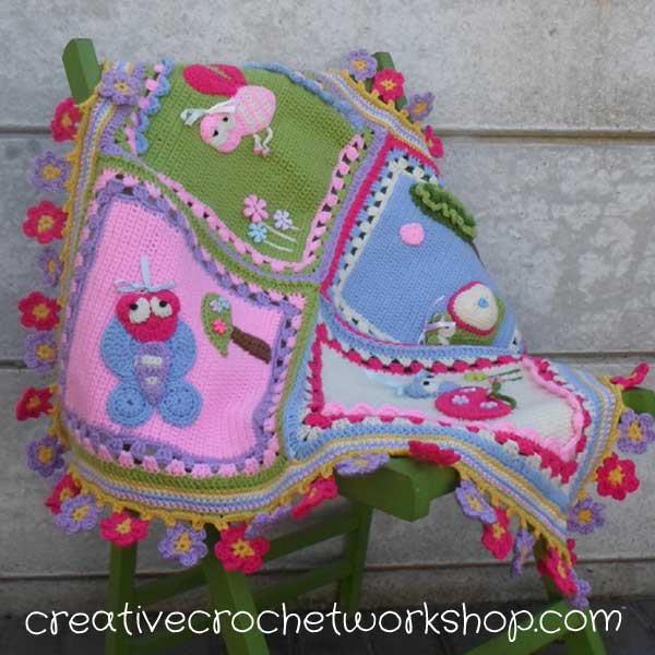 My Garden Bug Blanket | Creative Crochet Workshop | Free Crochet Pattern