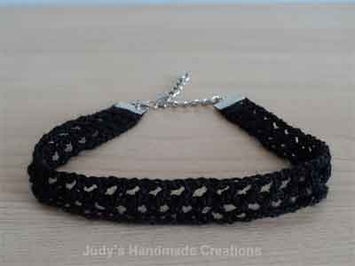 BLACK CROCHET NECKLACE|SNICKERDOODLE SUNDAY FEATURE|CREATIVE CROCHET WORKSHOP