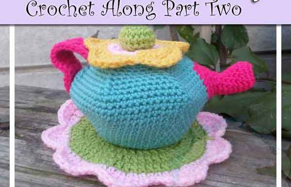 FLOWER GARDEN TEA SET CROCHET ALONG PART TWO|CREATIVE CROCHET WORKSHOP