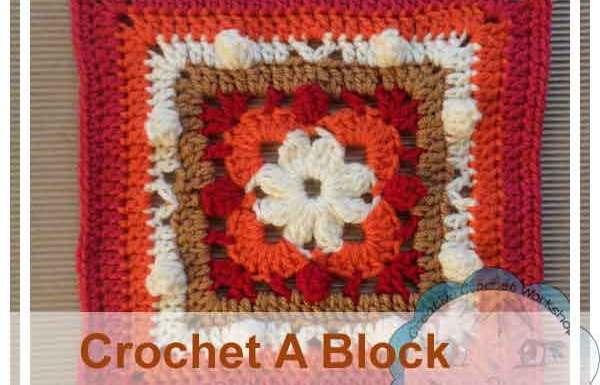 POPCORNS & FLOWER SQUARE|CROCHET A BLOCK|CREATIVE CROCHET WORKSHOP