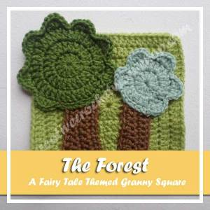 THE FOREST RED RIDING HOOD|FAIRY TALE THEME GRANNY SQUARES|CREATIVE ICROCHET WORKSHOP