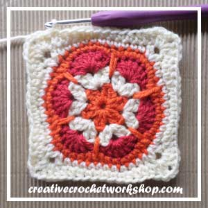 HEXAGON IN A SQUARE|STEP 011| CROCHET A BLOCK|CREATIVE CROCHET WORKSHOP