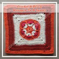 HEXAGON IN A SQUARE|CROCHET A BLOCK|CREATIVE CROCHET WORKSHOP
