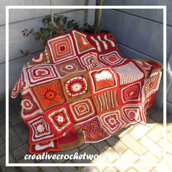CROCHET A BLOCK 2016 BLANKET WITHOUT BORDER A|CREATIVE CROCHET WORKSHOP