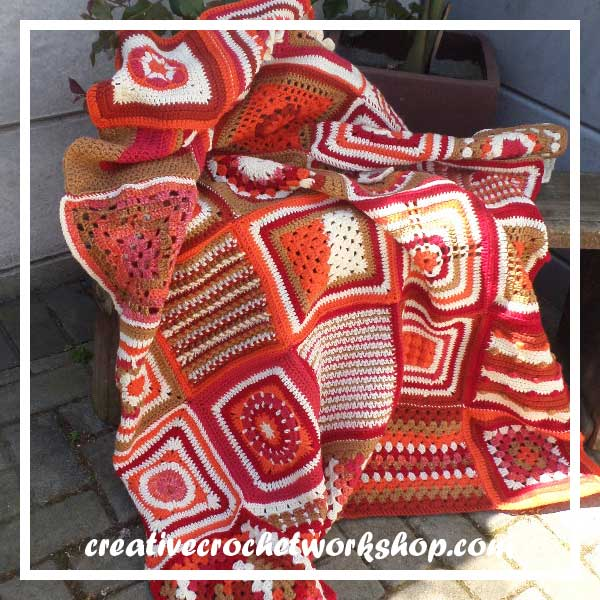 CROCHET A BLOCK 2016 BLANKET WITHOUT BORDER B|CREATIVE CROCHET WORKSHOP