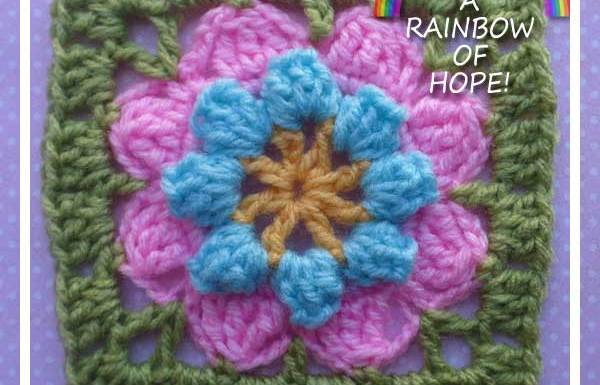 EIGHT PETAL POPCORN FLOWER|CRAFTING A RAINBOW OF HOPE|CREATIVE CROCHET WORKSHOP