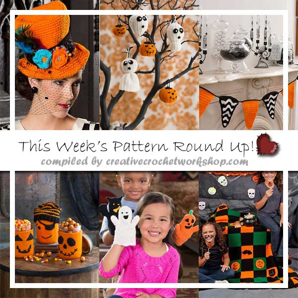 FUN HALLOWEEN CROCHET PATTERNS|2016 SEPTEMBER PATTERN ROUND UP|CREATIVE CROCHET WORKSHOP