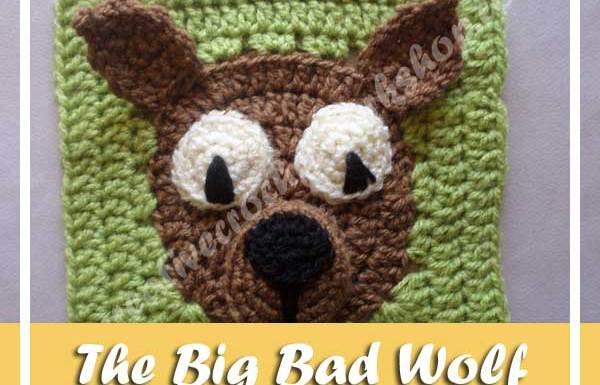 THE BIG BAD WOLF FAIRY TALE GRANNY SQUARE  CREATIVE CROCHET WORKSHOP