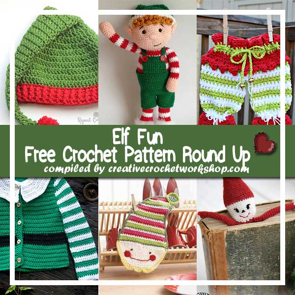 ELF FUN | FREE CROCHET PATTERN ROUND UP | CREATIVE CROCHET WORKSHOP