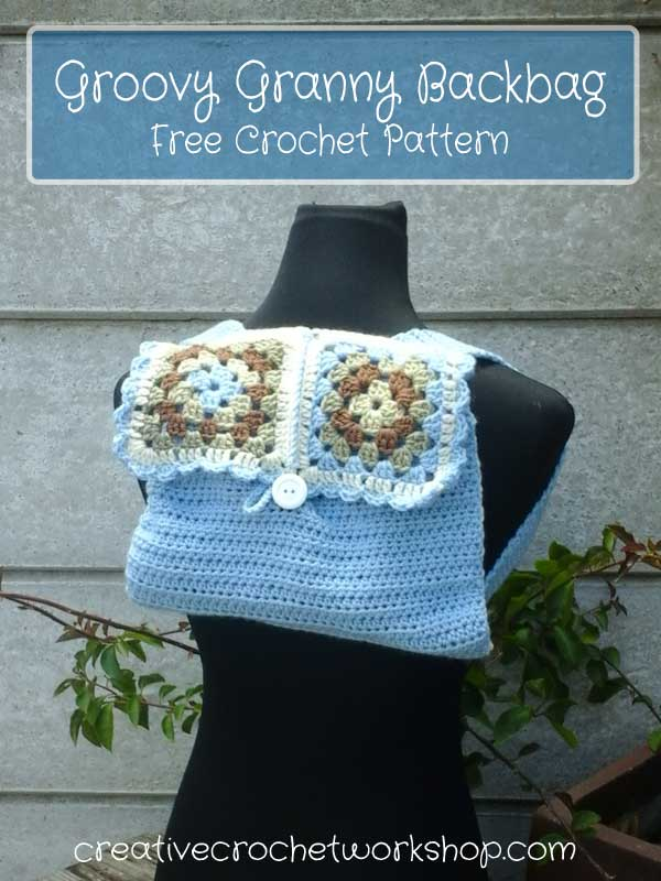 Groovy Granny Backbag | Creative Crochet Workshop | Free Crochet Pattern