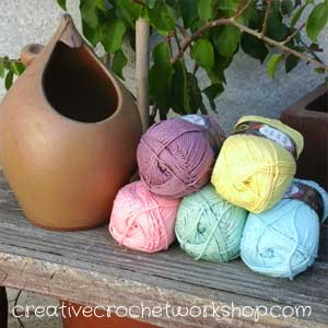 Lion Brand Cotton 24/7 | Knitted Blog Hop | Creative Crochet Workshop
