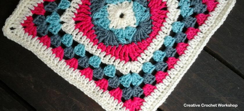 Diamond Granny Square - Feature Image | Creative Crochet Workshop