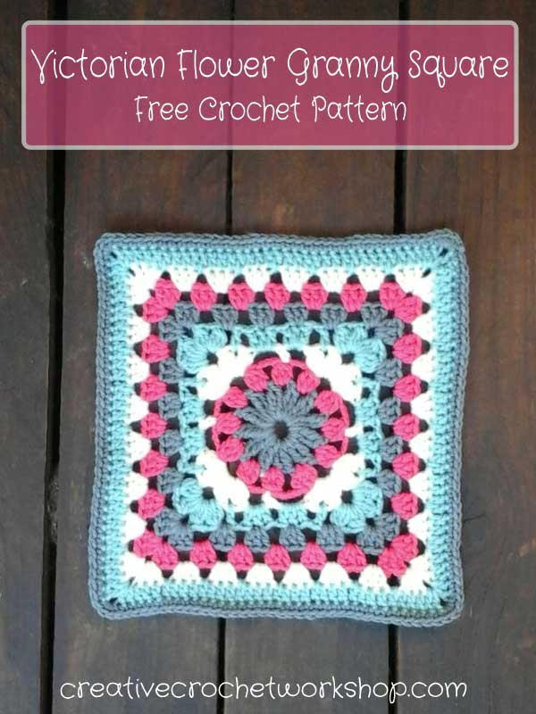 Victorian Flower Granny Square Creative Crochet Workshop