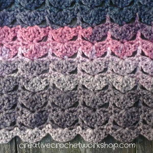 Vintage Scalloped Shawl Stitch Pattern | Creative Crochet Workshop