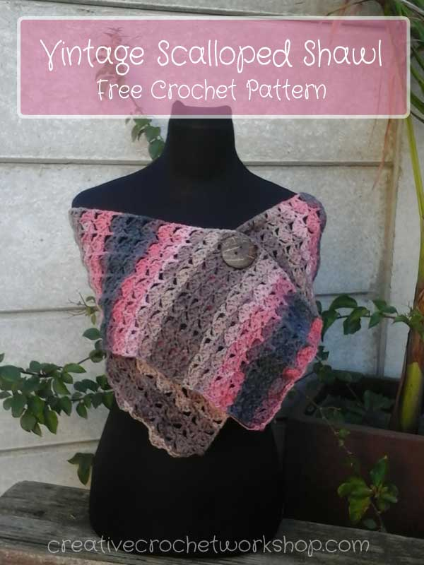 Vintage Scalloped Shawl Creative Crochet Workshop