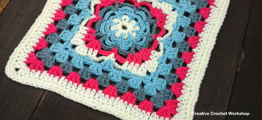 FLOWER WEB GRANNY SQUARE