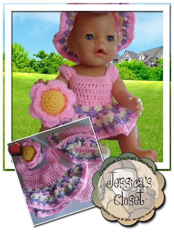 Baby Doll Flower Set | Crissy's Doll Boutique @crissysdollboutique 43cm (17 inch) baby doll
