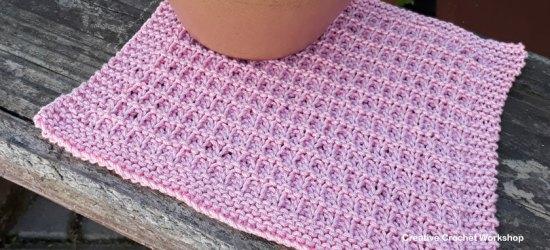 Hurdle Stitch Dishcloth - Knitted Kitchen Blog Hop | Creative Crochet Workshop @creativecrochetworkshop #knittedkitchen