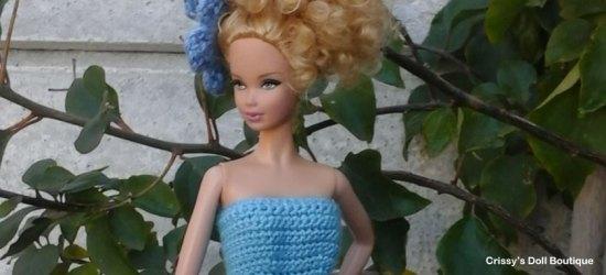 Blue Petal Fairy Dress | Cherry's Boutique | Crissy's Doll Boutique @crissysdollboutique