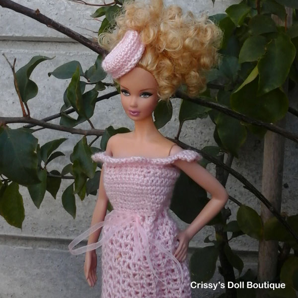 Pink Lacy Summer Dress | Cherry's Boutique | Crissy's Doll Boutique @crissysdollboutique