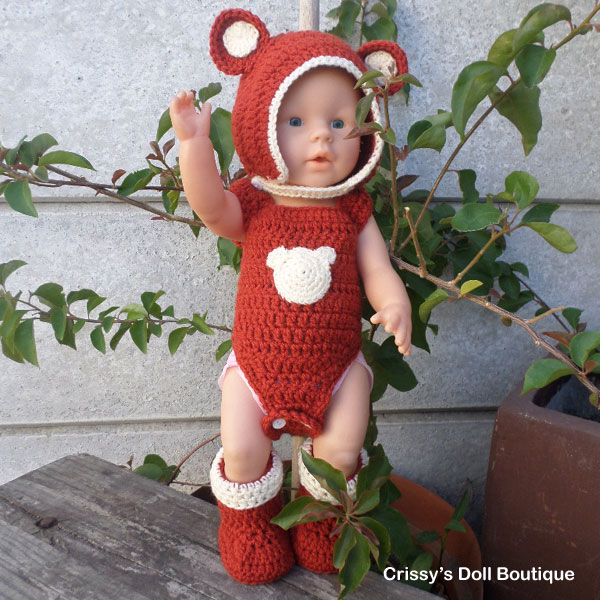 Teddybear Playsuit | Jessica's Closet | Crissy's Doll Boutique @crissysdollboutique