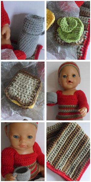 Jessica's Closet - Baby Doll Picnic Set | Crissy's Doll Boutique @crissysdollboutique 43cm (17 inch) baby doll
