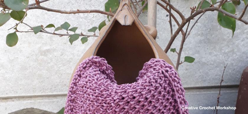 Bee Stitch Dishcloth - Knitted Kitchen Blog Hop   Creative Crochet Workshop @creativecrochetworkshop #knittedkitchen