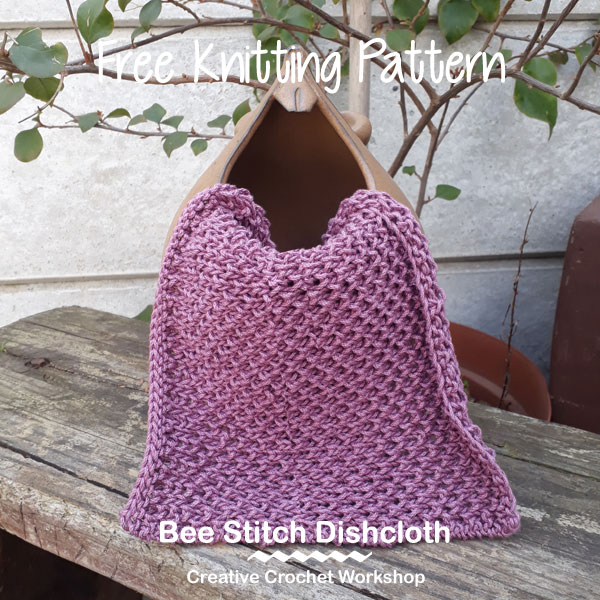 Bee Stitch Dishcloth Creative Crochet Workshop Free Knitting Pattern