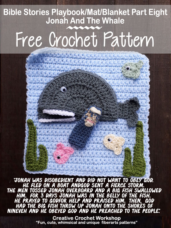 My Bible Stories Playbook Part Eight | Free Crochet Pattern | Creative Crochet Workshop @creativecrochetworkshop #ccwbiblestoriescrochetalong