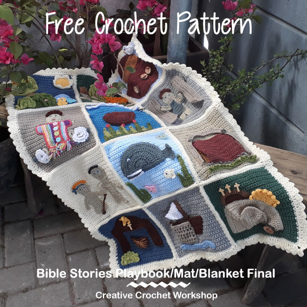 My Bible Stories Playbook Final | Free Crochet Pattern | Creative Crochet Workshop @creativecrochetworkshop #ccwbiblestoriescrochetalong