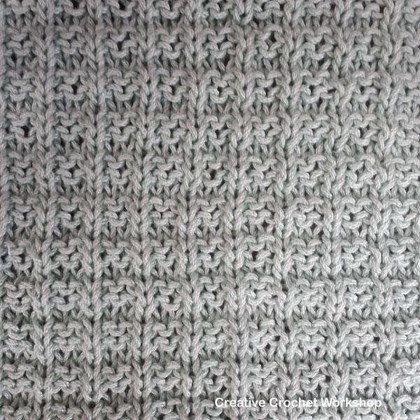 Ridge Rib Dishcloth - Knitted Kitchen Blog Hop   Creative Crochet Workshop @creativecrochetworkshop #knittedkitchen