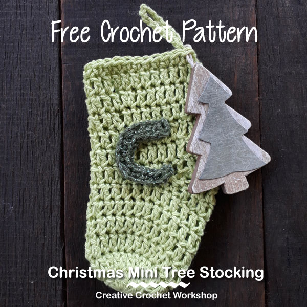 Christmas Mini Tree Stocking | Creative Crochet Workshop #ChristmasGiftAlong2017