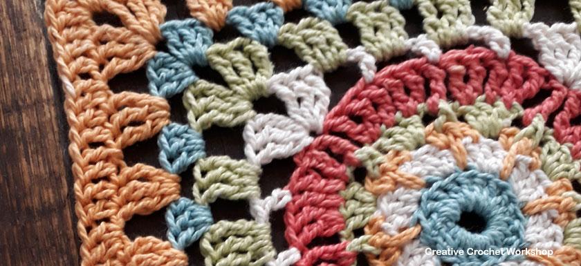 Cosmic Sun Afghan Square | Creative Crochet Workshop @creativecrochetworkshop #freecrochetpattern #grannysquare #afghansquare #crochetalong #ccwcrochetablock2018