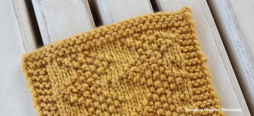Pique Zigzag Knit Square Creative Crochet Workshop