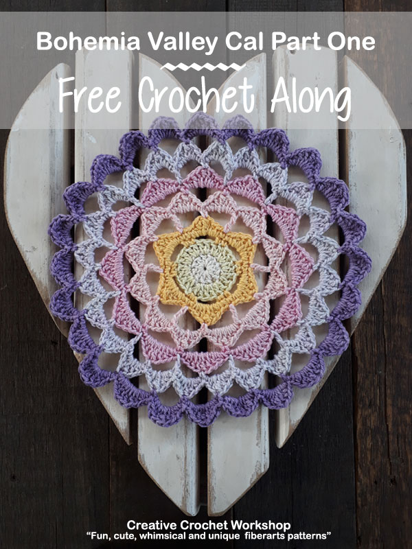 Bohemia Valley Cal Part One | Creative Crochet Workshop #ccwbohemiacrochetalong #crochetalong #freecrochetpattern #crochet @creativecrochetworkshop