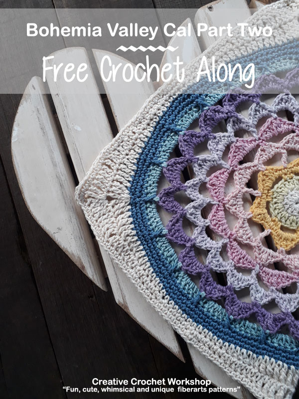 Bohemia Valley Cal Part Two | Creative Crochet Workshop #ccwbohemiacrochetalong #crochetalong #freecrochetpattern #crochet @creativecrochetworkshop