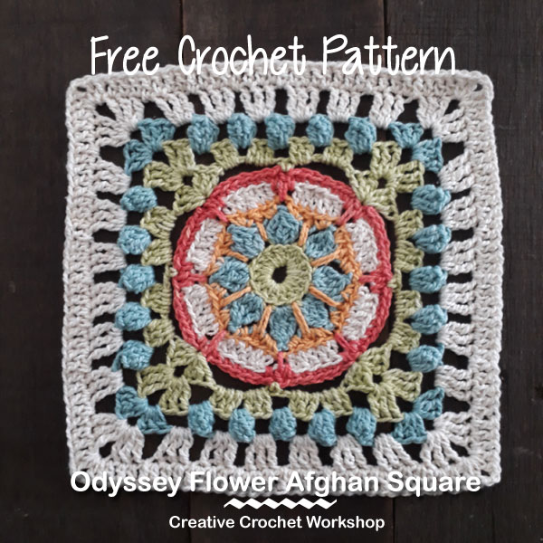 Odyssey Flower Afghan Square Creative Crochet Workshop