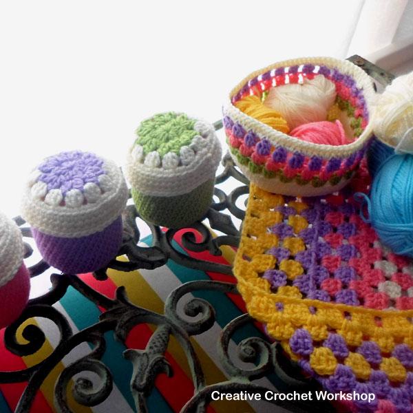 Small Accessories Storage Set | Creative Crochet Workshop #freecrochetpattern #crochet @creativecrochetworkshop