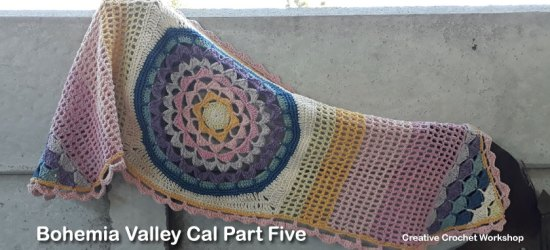 Bohemia Valley Cal Part Five | Creative Crochet Workshop #ccwbohemiacrochetalong #crochetalong #freecrochetpattern #crochet @creativecrochetworkshop