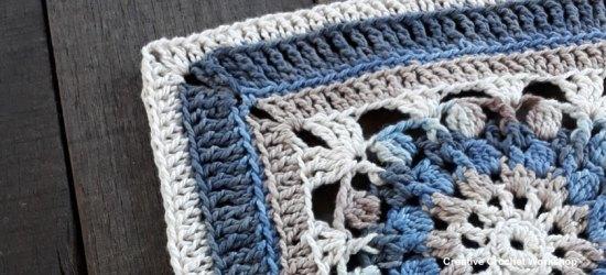 Daria Afghan Square | Creative Crochet Workshop @creativecrochetworkshop #freecrochetpattern #grannysquare #afghansquare #crochetalong #ccwcrochetablock2018