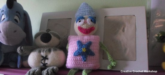 Shape Buddy Play Clown | Creative Crochet Workshop #freecrochetpattern #crochet @creativecrochetworkshop