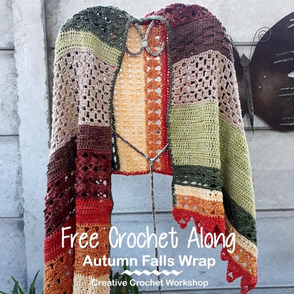 Autumn Falls Wrap Creative Crochet Workshop Free Crochet Along